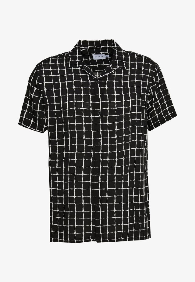 BLACK BASE CHECK REVERE - Camicia - black