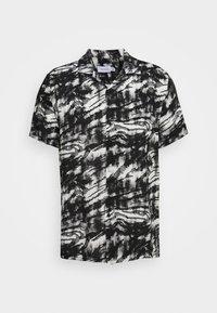 Topman - MONO TIGER REVERE - Skjorta - black/white - 3