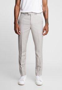 Topman - PINSTRIPE - Kalhoty - grey - 0