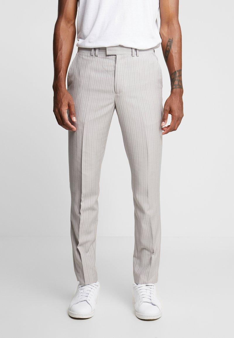 Topman - PINSTRIPE - Trousers - grey