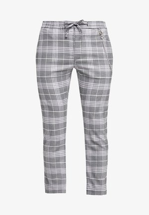 SUMMER CHECK JOGGER WITH ZIPS - Bukser - grey