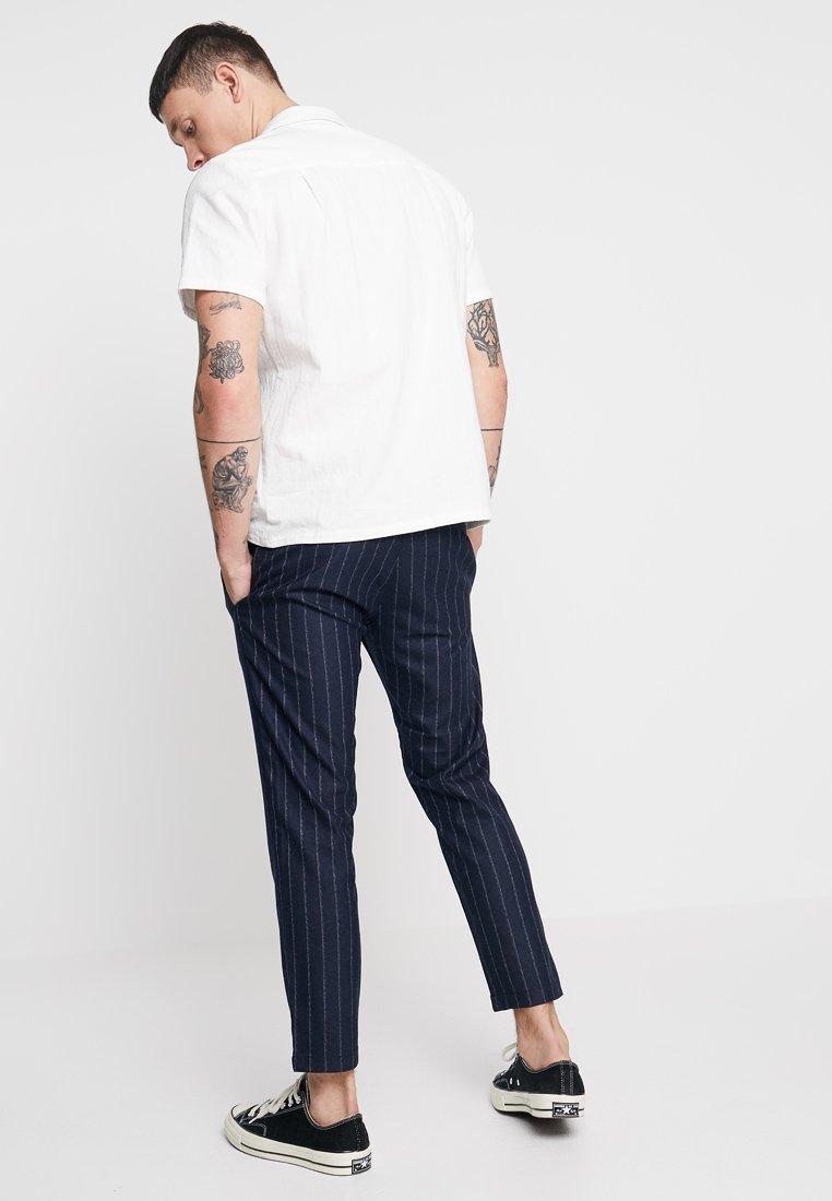 Topman - WINDOW PANE WHYATT - Trousers - navy