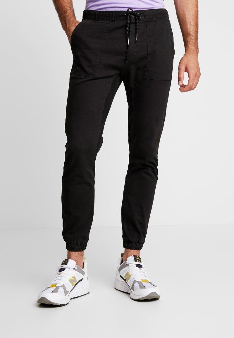 Topman - UPDATE SKINNY WOVEN  - Trousers - black