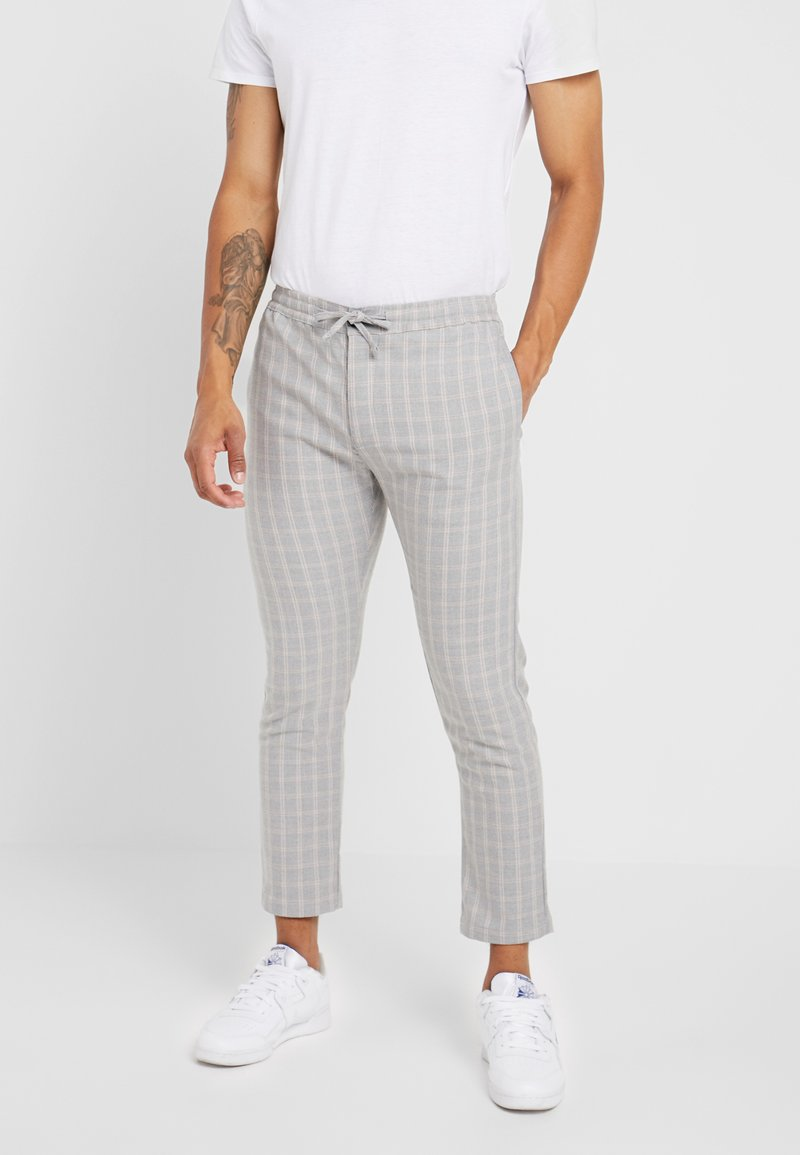 Topman - CHECK WHYATT - Trousers - grey
