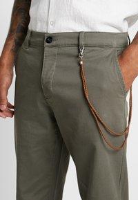 Topman - TAPER - Trousers - khaki - 3