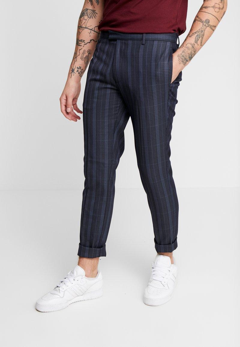 Topman - SHERB  CROP - Pantaloni - blue