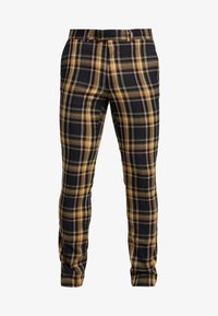 Topman - HIGHLIGHT BOLD CHECK SUPER SKINNY - Broek - navy - 4