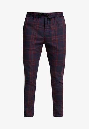 CHECK WHYATT - Spodnie materiałowe - burgundy