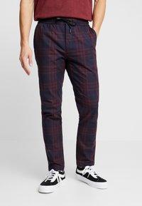 Topman - CHECK WHYATT - Kalhoty - burgundy - 0