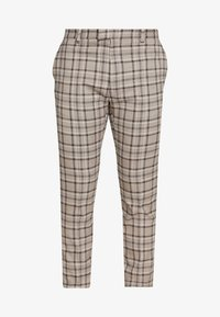 Topman - CORE CHECK TROUSER - Tygbyxor - grey - 4