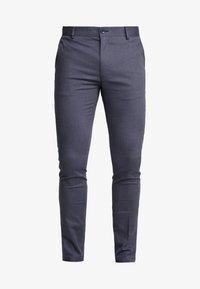Topman - DOBBY - Pantalones chinos - navy - 3