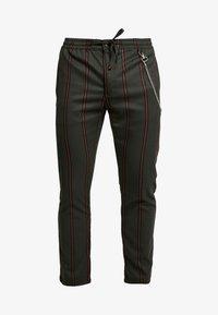 Topman - STRIPE WITH CHAIN - Kalhoty - khaki - 4