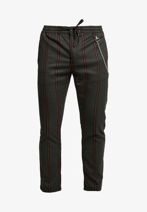 STRIPE WITH CHAIN - Kalhoty - khaki