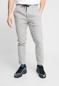 Topman - STRIPE WHYATT - Pantaloni - grey - 0