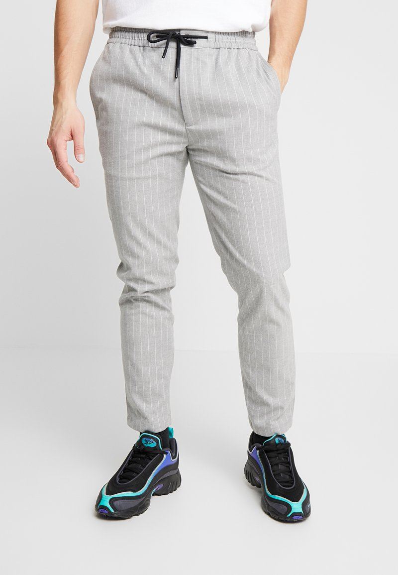 Topman - STRIPE WHYATT - Pantaloni - grey