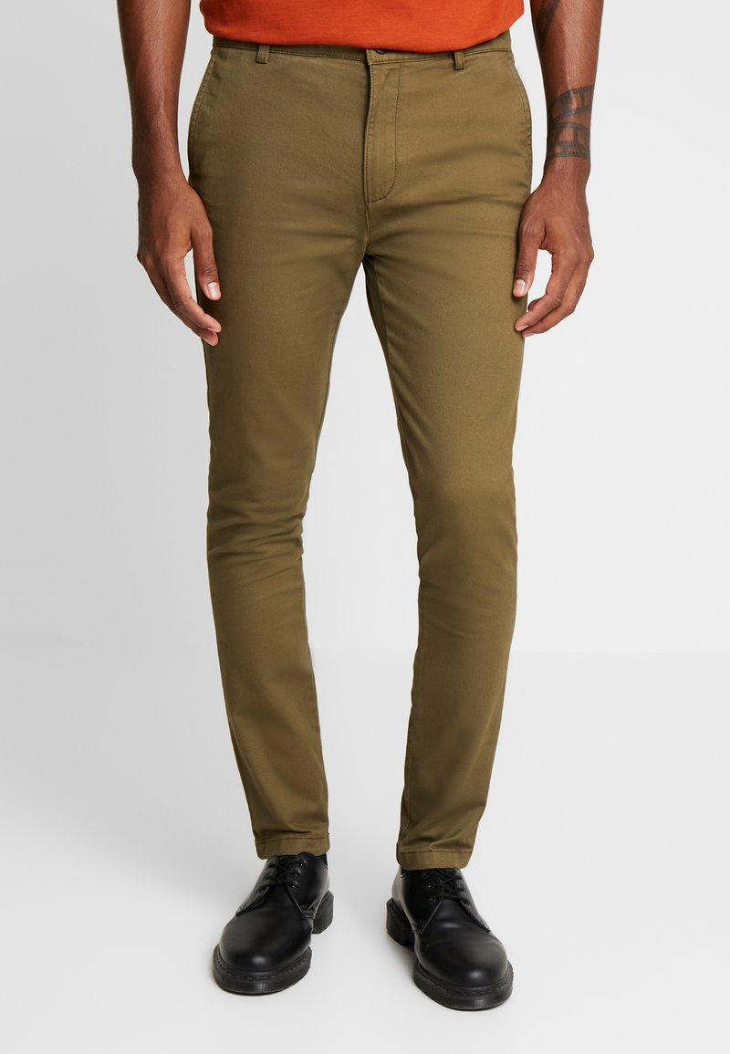 Topman - CHINO - Pantalones chinos - green