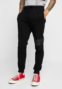 Topman - SIGNATURE JOGGER - Tracksuit bottoms - black - 0