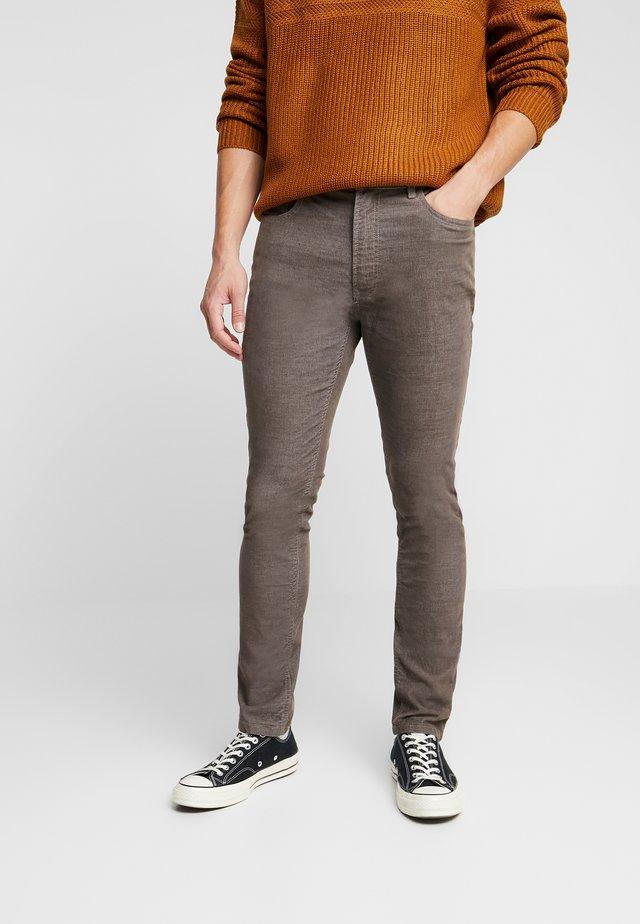 Kangashousut - brown