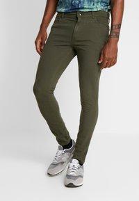 Topman - SPRAY ON - Kalhoty - khaki - 0