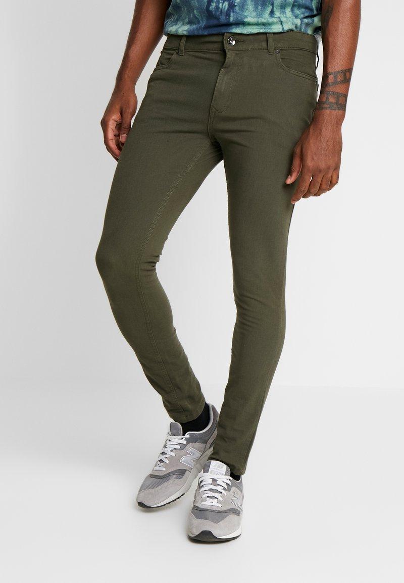 Topman - SPRAY ON - Kalhoty - khaki