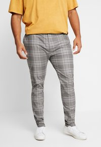 Topman - CHECK - Broek - grey - 0