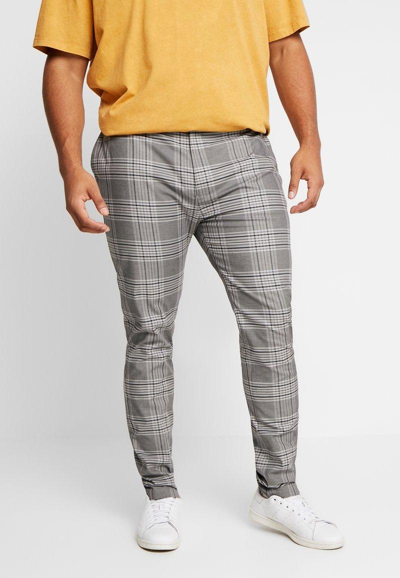 Topman - CHECK - Kalhoty - grey