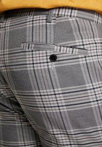 Topman - CHECK - Trousers - grey - 5