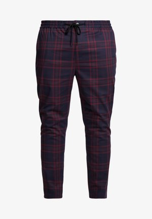 NAVY BURG CHECK  - Trousers - bordeaux/blue