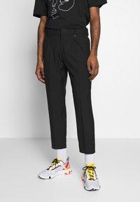 Topman - FASH SOUTHDOWN - Kalhoty - black - 0