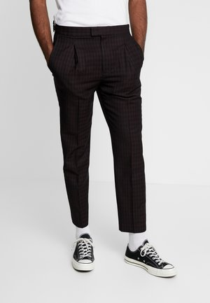GINGHAM CHECK - Pantaloni - bordeaux