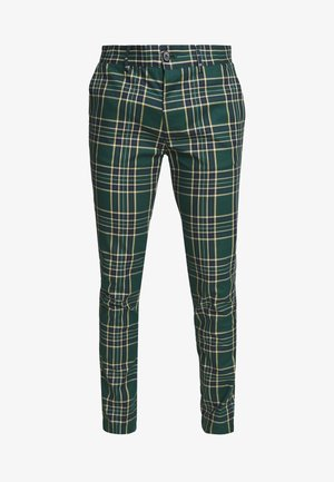 CHECK - Stoffhose - green