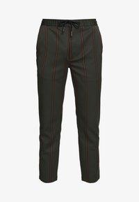 Topman - STRIPE - Pantalon de survêtement - khaki - 3
