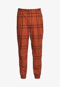 Topman - TERRA CHECK WHYATT - Pantalones - brown - 3