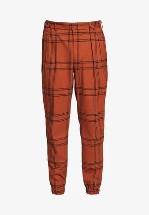 TERRA CHECK WHYATT - Pantaloni - brown