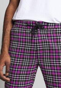 Topman - CHECK WHYATT - Trousers - lilac - 4