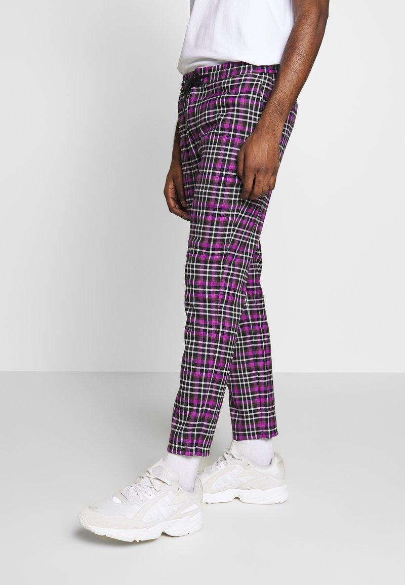 Topman - CHECK WHYATT - Trousers - lilac