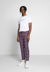Topman - CHECK WHYATT - Trousers - lilac - 1