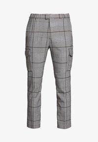 Topman - LARGE SCALE CHECK - Pantaloni cargo - grey - 4