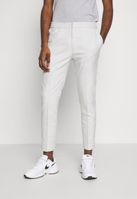 Topman - CHECK JOGGER - Broek - grey - 0