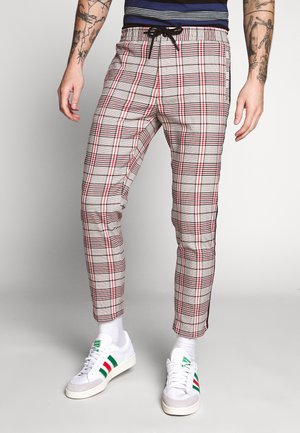 CHECK WHYATT   - Trousers - stone