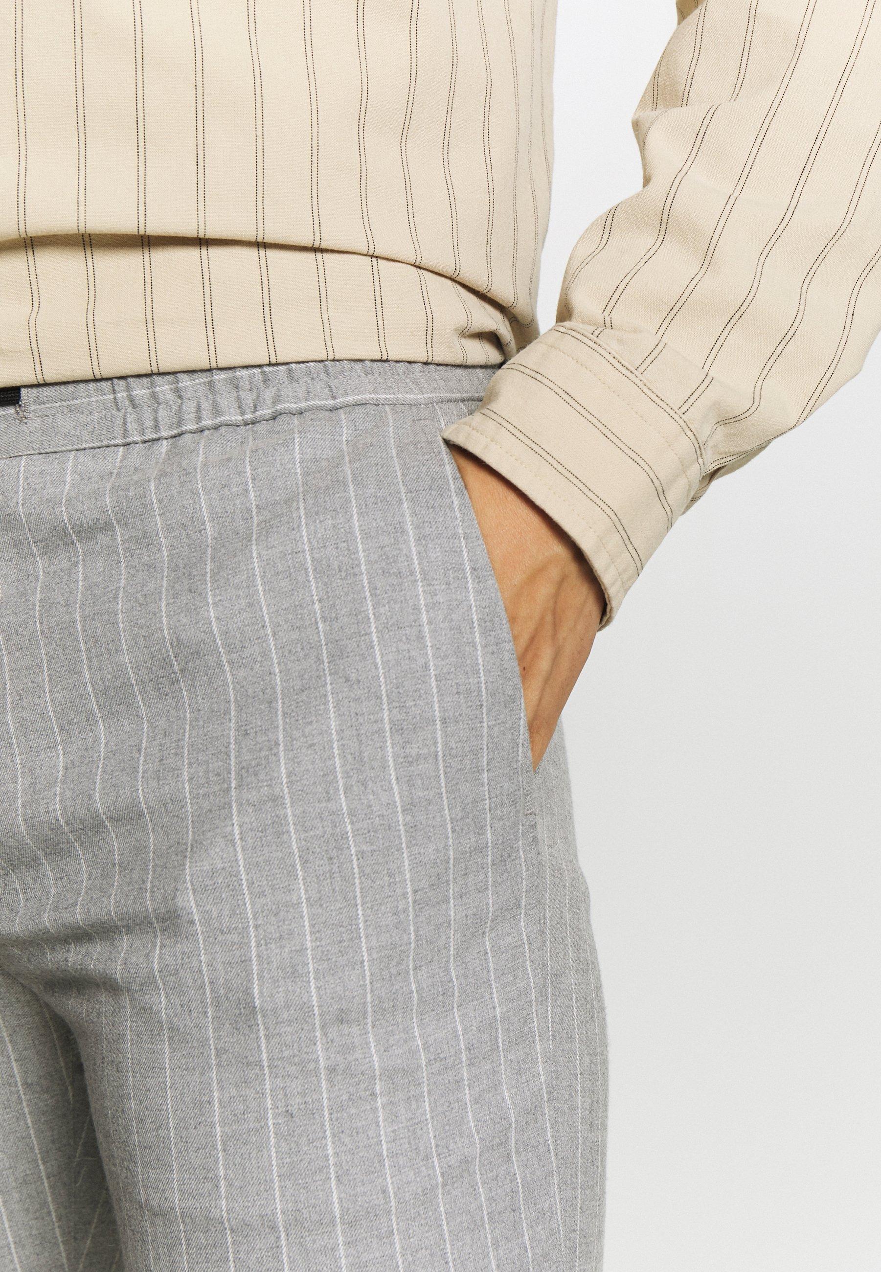 Topman Spodnie materiałowe - grey