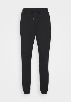 PAPER TOUCH CUFFED - Trousers - black