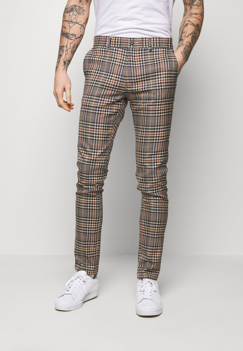 Topman - LARGE SCALE - Stoffhose - brown
