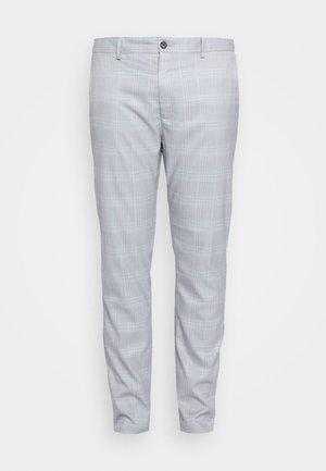 HERI CHECK - Suit trousers - light blue