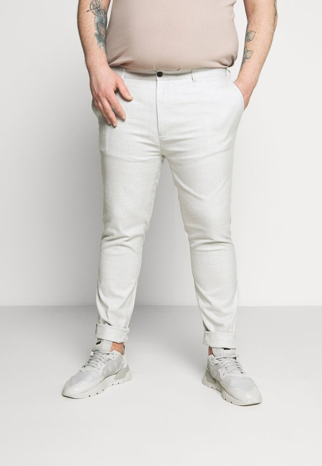 CHECK - Trousers - mid wash