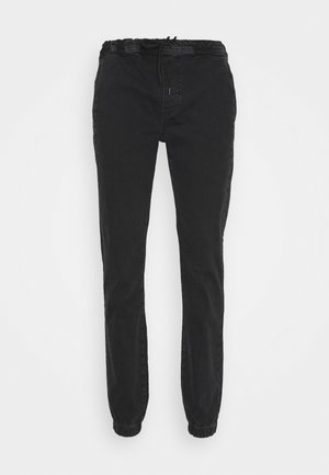 JOGGERS - Jeansy Slim Fit - washed black