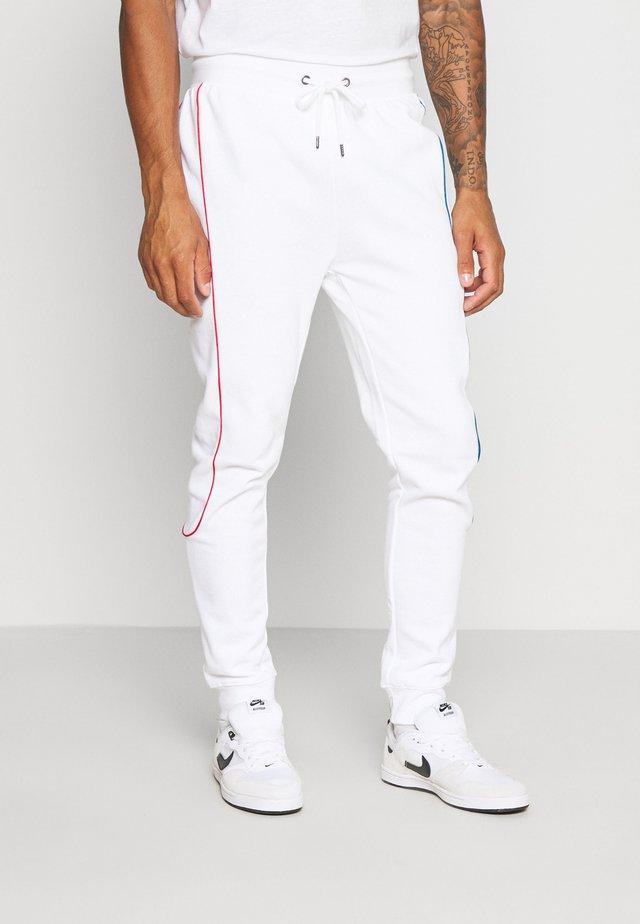 PRIMARY PIPED - Pantaloni sportivi - white