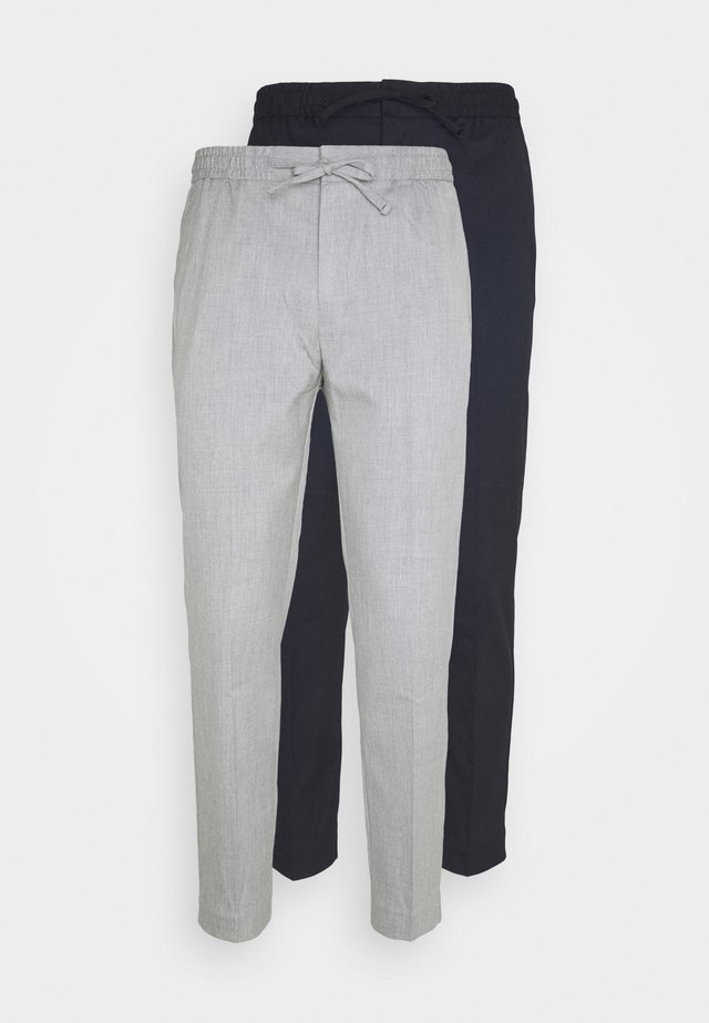 2 PACK - Pantalon classique - navy/grey