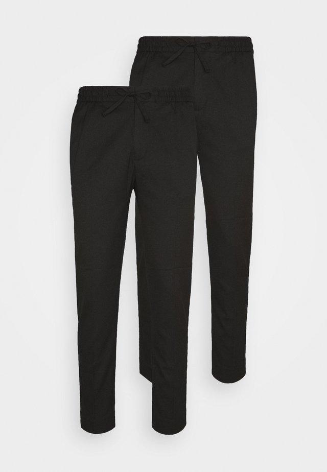2 PACK - Spodnie materiałowe - black