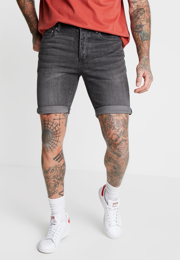 Topman - CHARLIE  - Jeans Shorts - washed black
